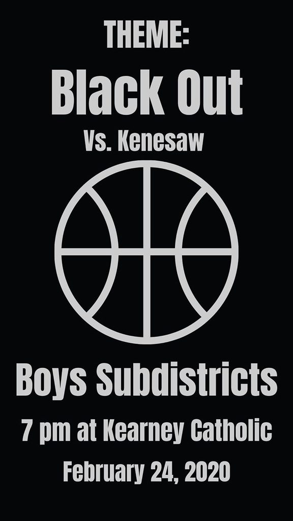 Black out there for tonight's boys basketball sub-district game.