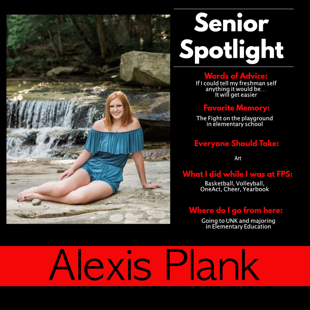 Alexis Plank Senior Spotlight
