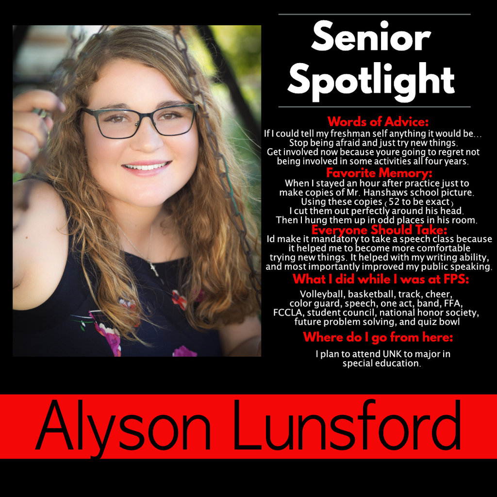 Alyson Lunsford Senior Spotlight