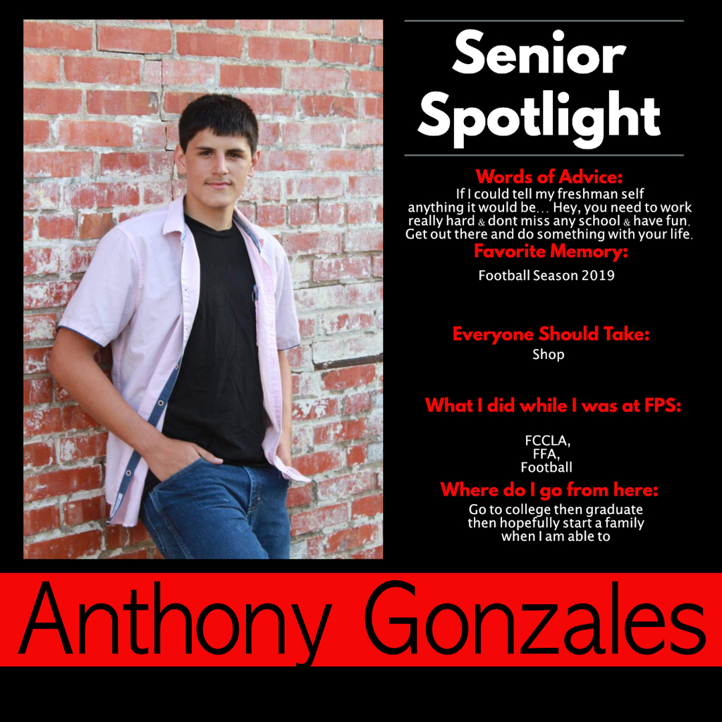 Anthony Gonzales Senior Spotlight