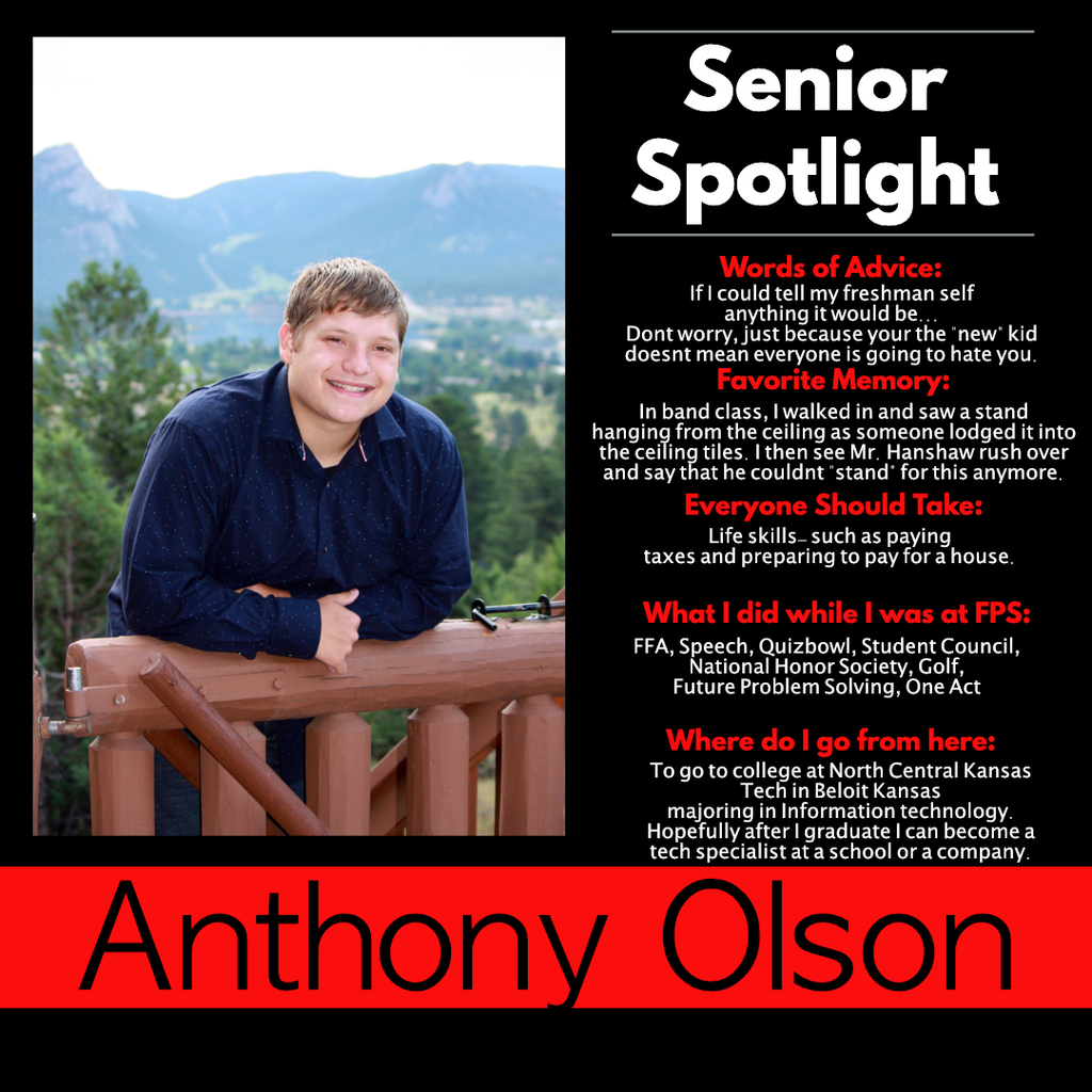 Anthony Olson Senior Spotlight