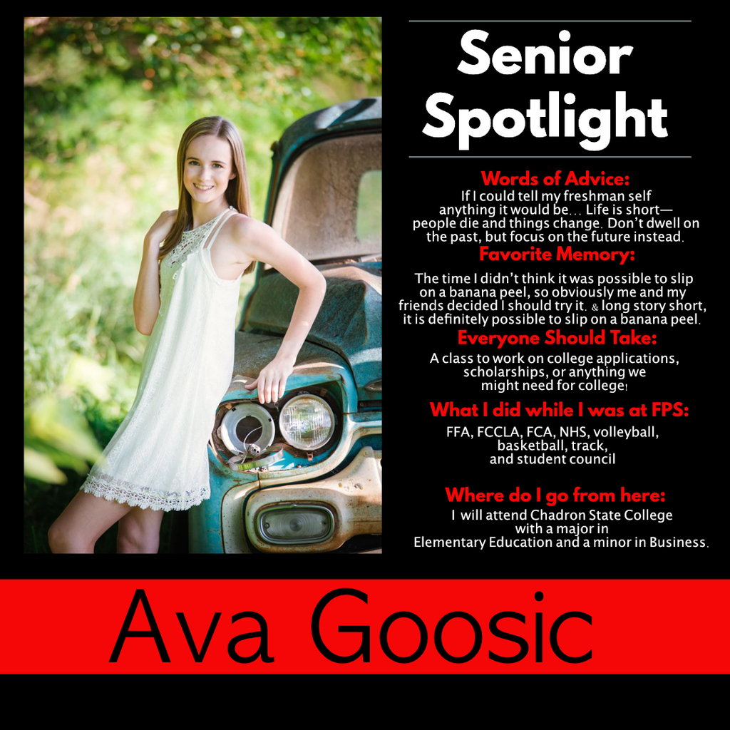 Ava Goosic Senior Spotlight