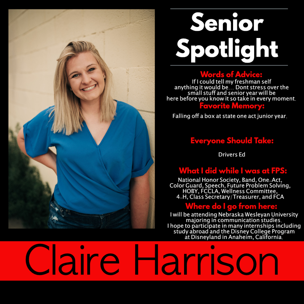 Claire Harrison Senior Spotlight