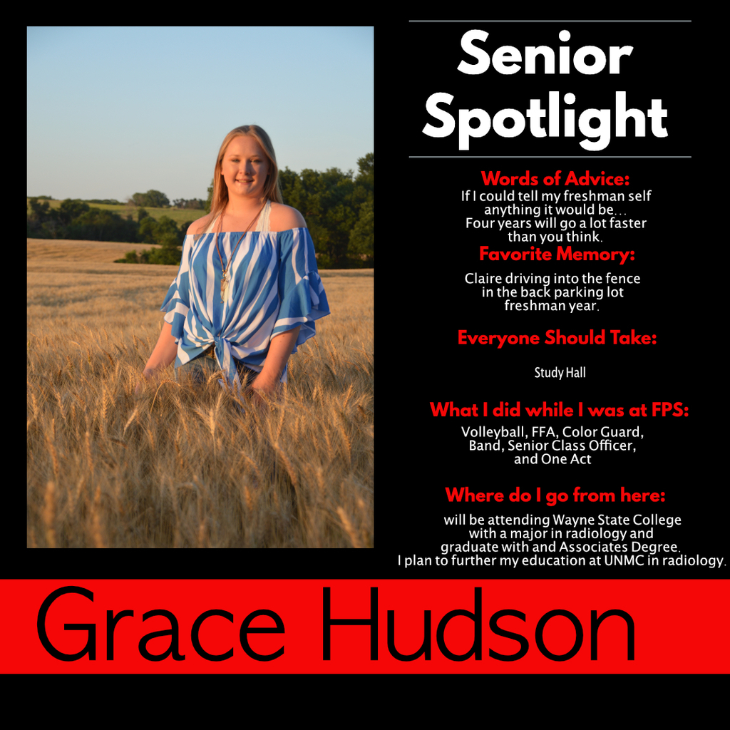 Grace Hudson Senior Spotlight