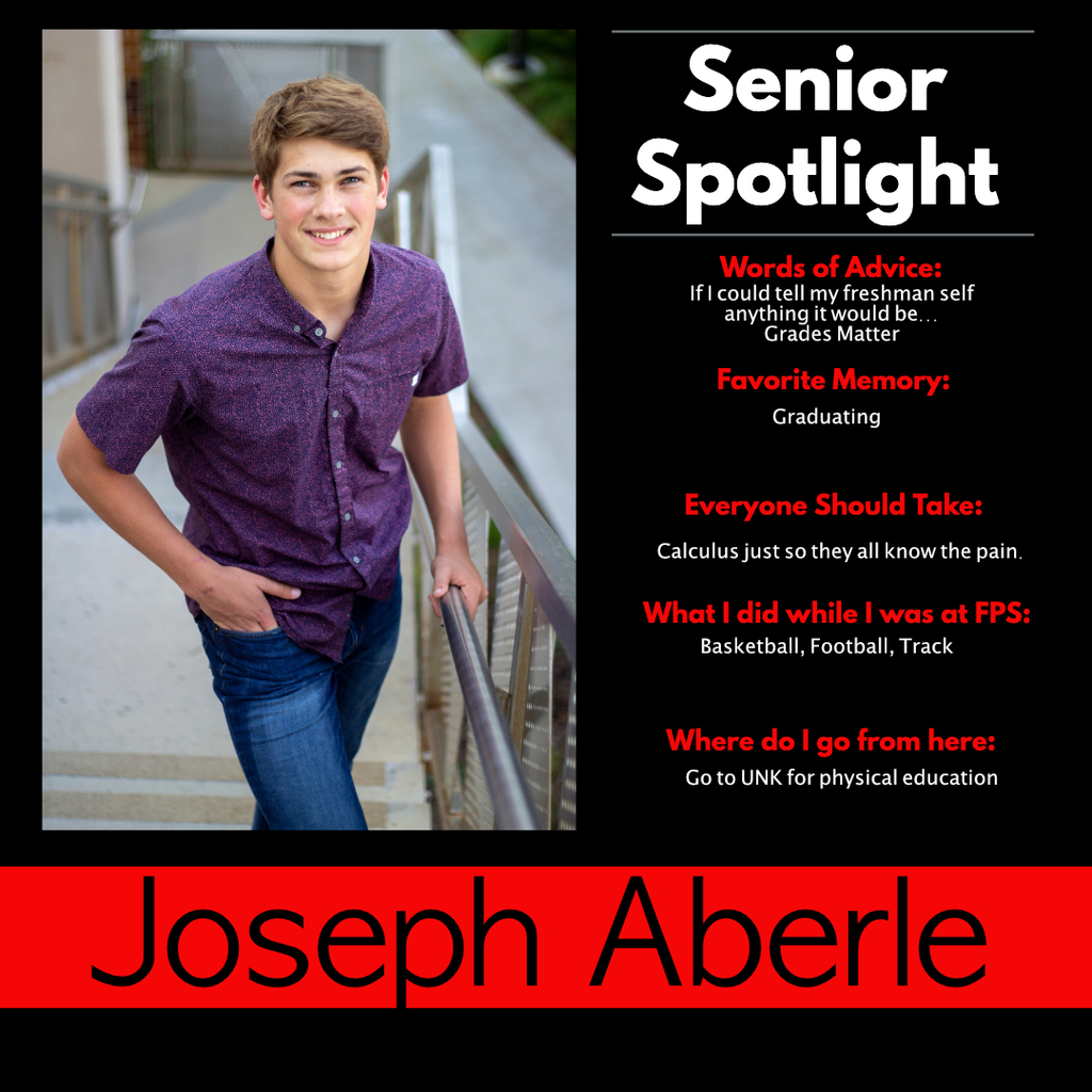 Joseph Aberle Senior Spotlight