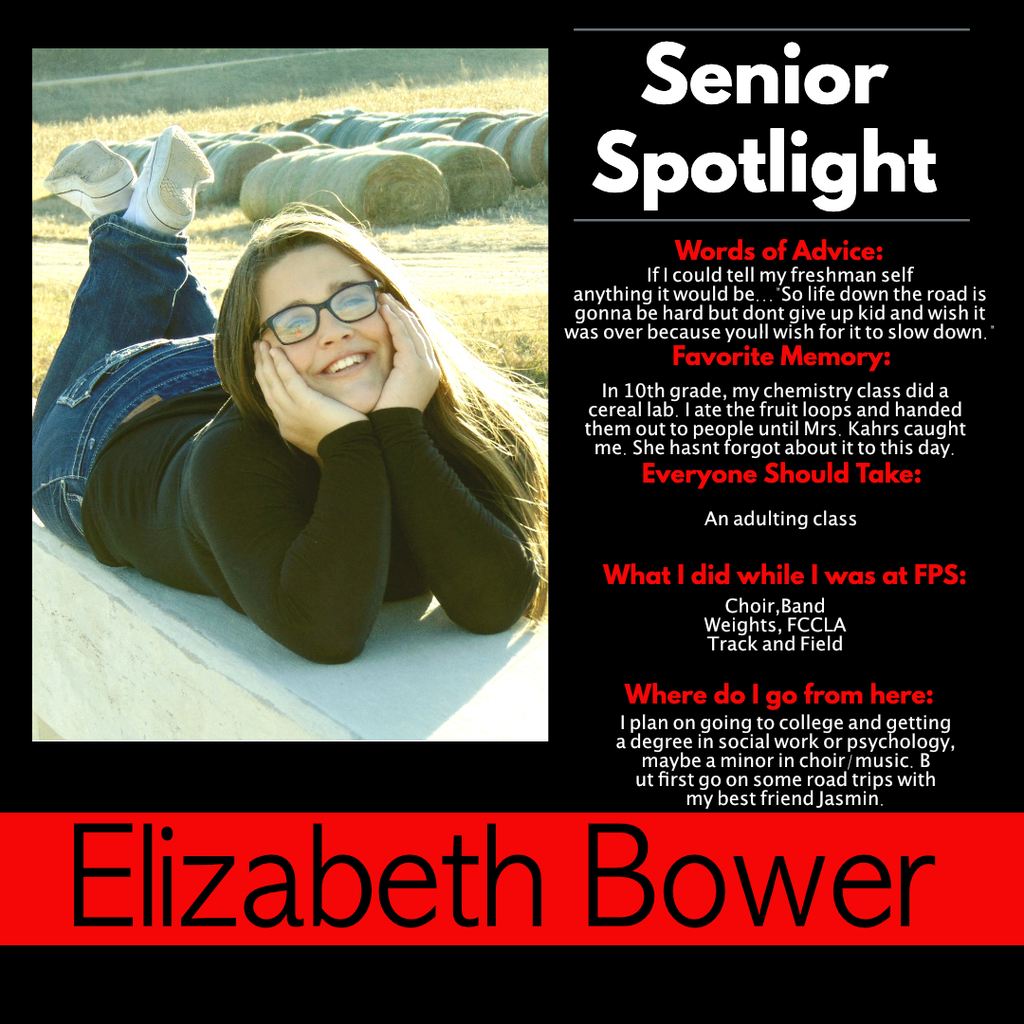 Elizabeth Bower Senior Spotlight