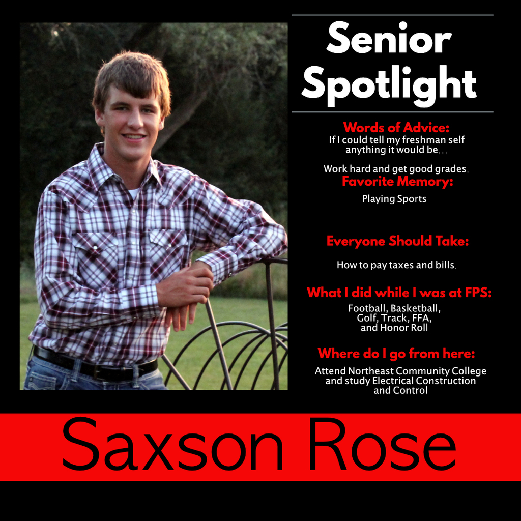 Saxson Rose Senior Spotlight