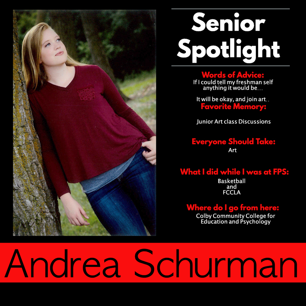 Andrea Schurman Senior Spotlight