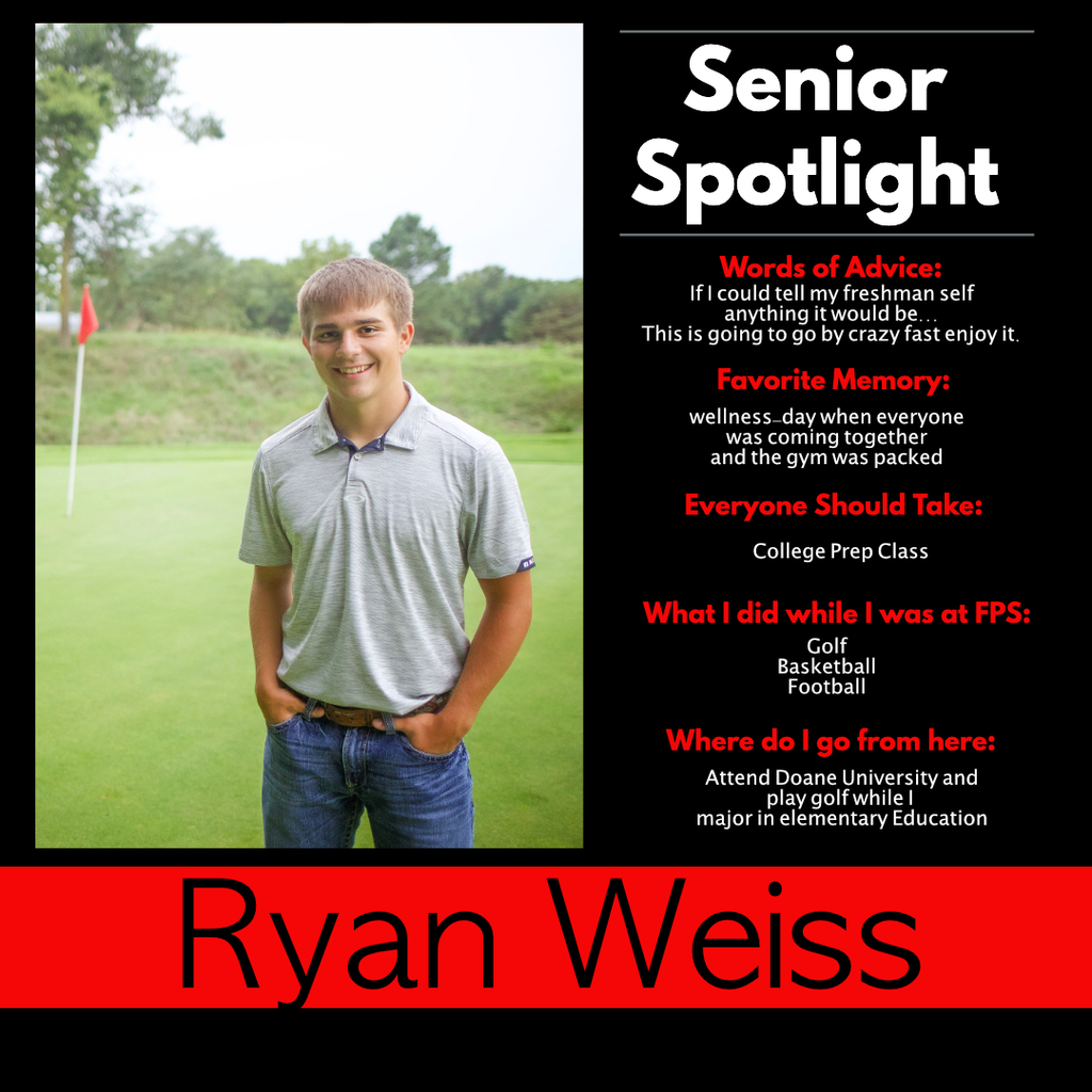 Ryan Weiss -Senior Spotlight